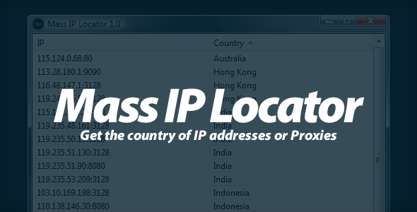 CodeCanyon Mass IP Locator Get the country of IPs 2085337