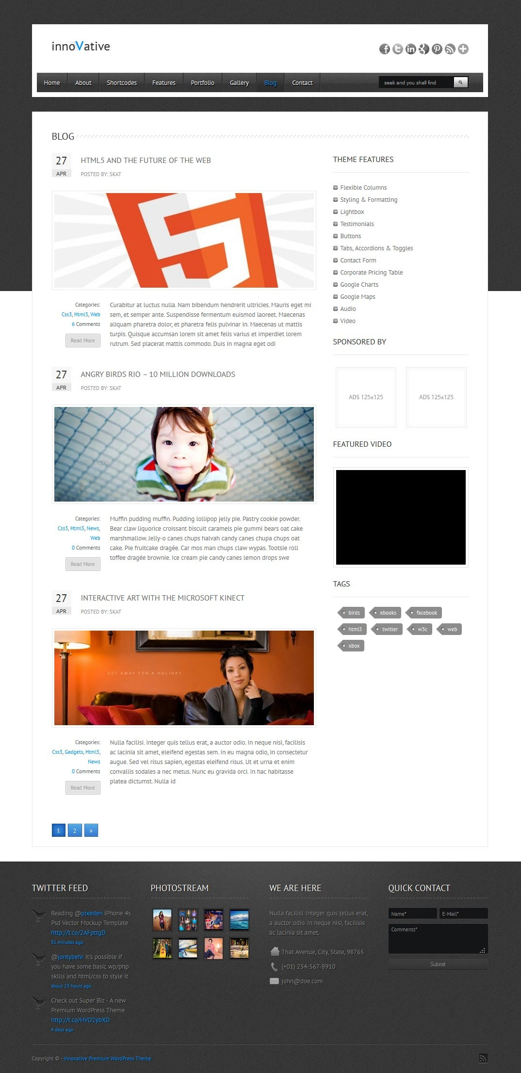 innoVative - Responsive WordPress Theme
