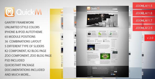 ThemeForest QuickM Template for Joomla 1.5 166035