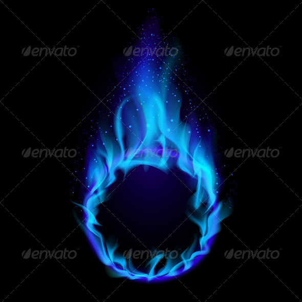 GraphicRiver Blue ring of Fire 2085912