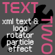 TextTwo-XML text and logo rotator particle effect - ActiveDen Item for Sale