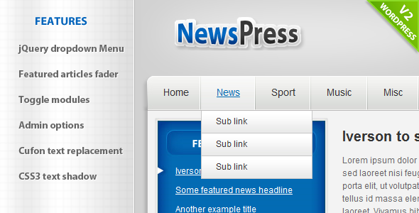 ThemeForest NewsPress Wordpress 79221