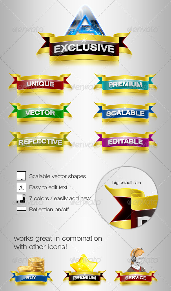 GraphicRiver Exclusive Web Ribbons 238548