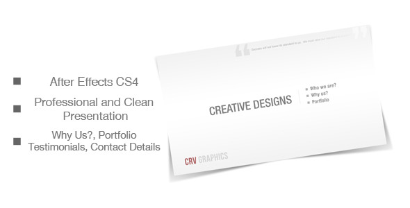 VideoHive Corporate and Clean Presentation 2090470