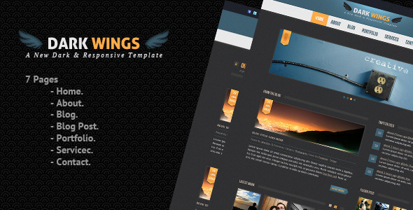Dark Wings - Dark Psd Template