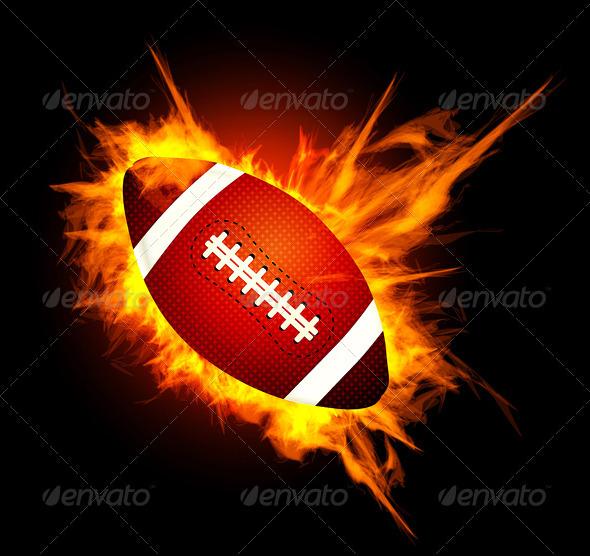 Graphic River American Football Ball Vectors -  Conceptual  Sports/Activity 2091520