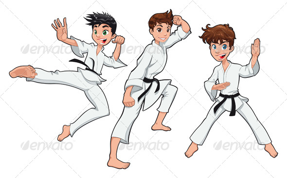 GraphicRiver Young boy Karate Player 238579