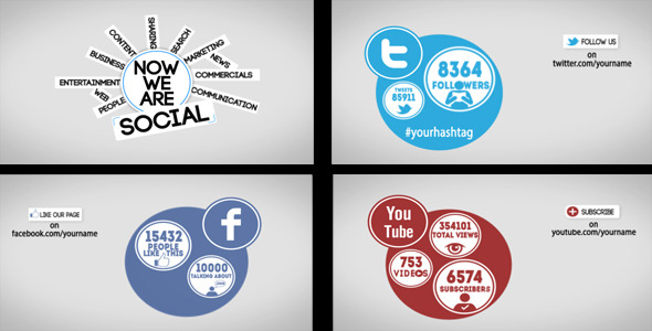 After Effects Project - VideoHive Promote Yourself with Social Media Networks 2092399