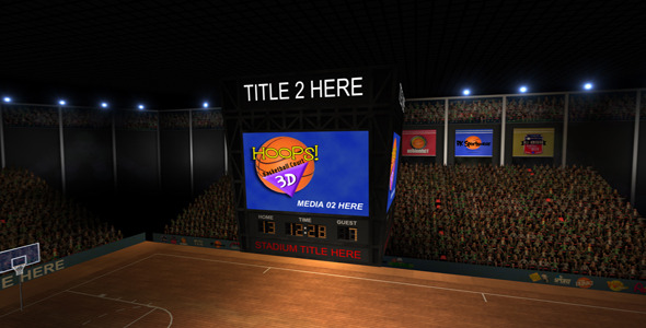 After Effects Project - VideoHive Hoops 3D Basketball Court 2092566