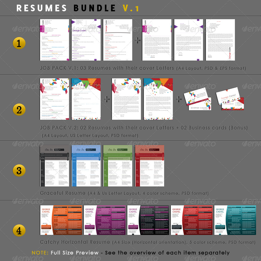 Resumes Bundle V.1