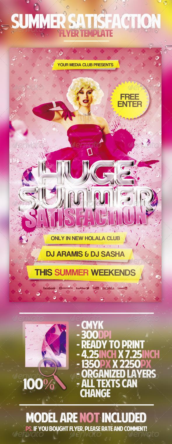 Summer Satisfaction Flyer Template