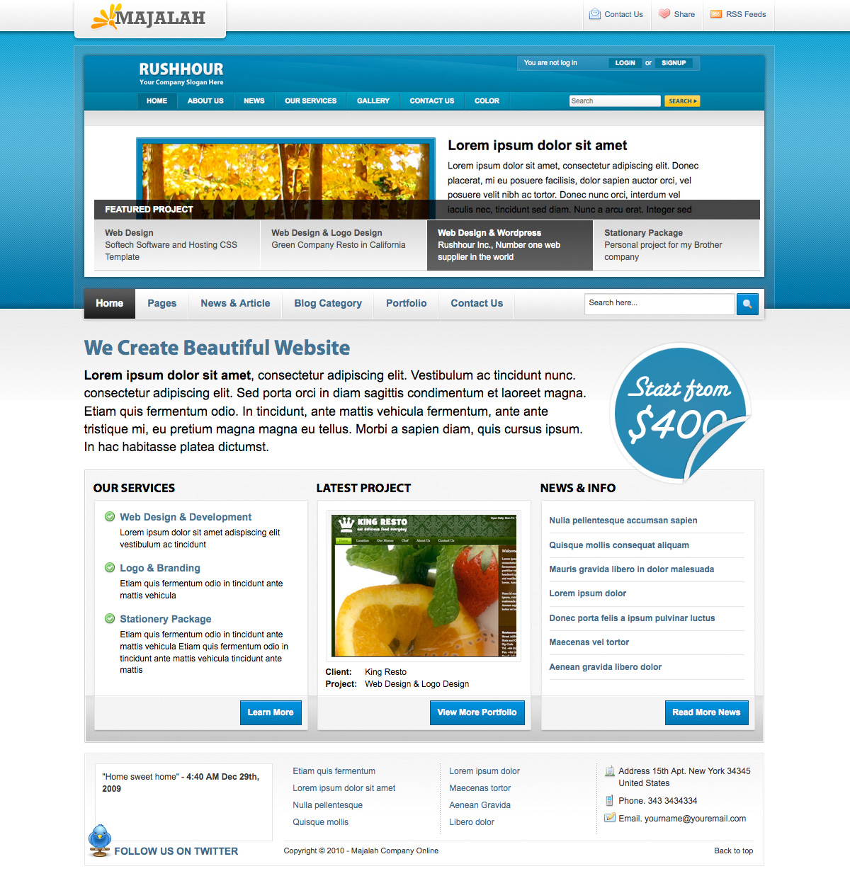 Majalah - Magazine Style Template (4 Background) - Magazine Style Template (4 Background)  - Homepage