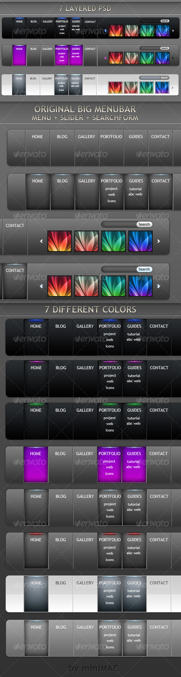 GraphicRiver Big Menu Bar 79613