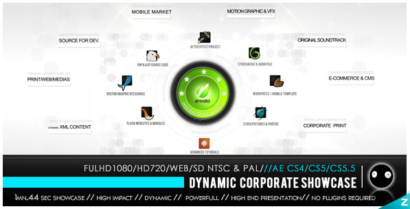 After Effects Project - VideoHive HD Dynamic Corporate Showcase 2099791