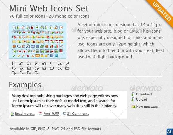 Mini Web Icons - Web Icons