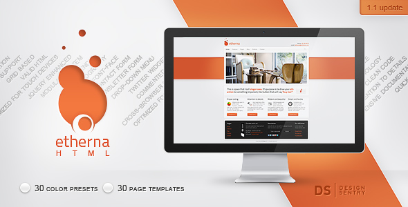 Etherna - powerful and flexible HTML/CSS template