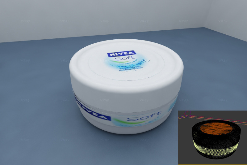 3DOcean realistic nivea soft plastic box 2100288