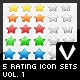 5 Rating Icon Sets in 5 Colors - GraphicRiver Item for Sale