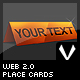 Web 2.0 Place Cards - GraphicRiver Item for Sale