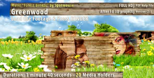 After Effects Project - VideoHive Greenwood 2067934