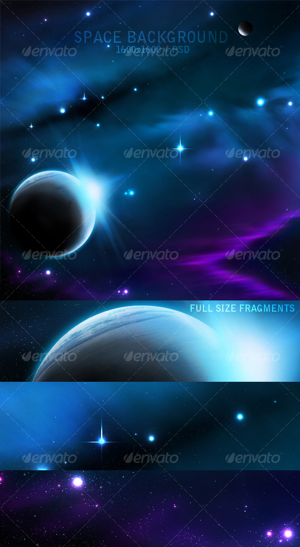 GraphicRiver Hight Quality Space Background 48228