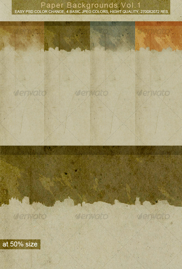 GraphicRiver Paper Backgrounds VOL.1 47080