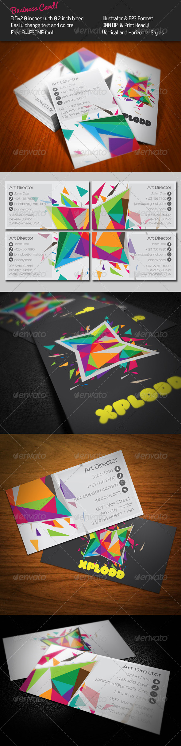 Color Explosion Business Card - Creative Business Cards