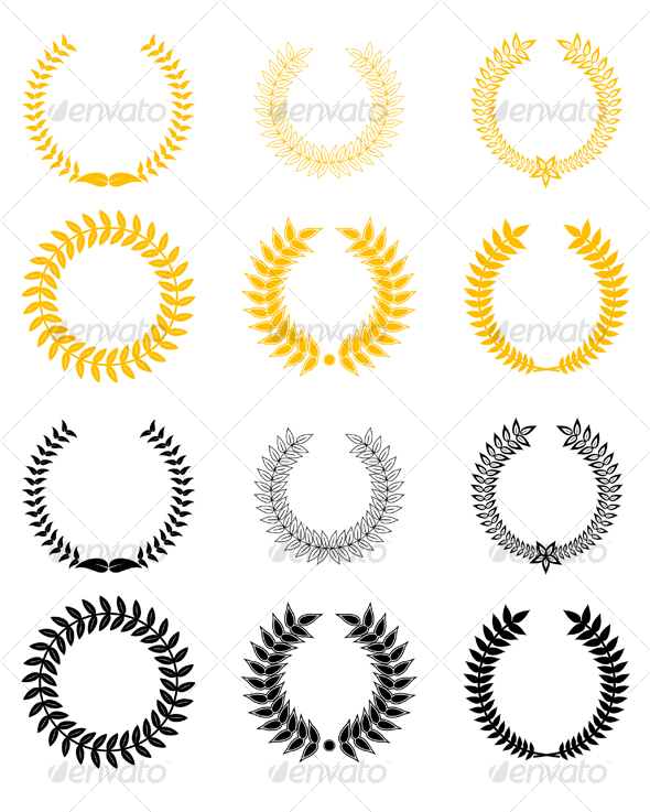 GraphicRiver Set 2 of laurel wreaths 79823