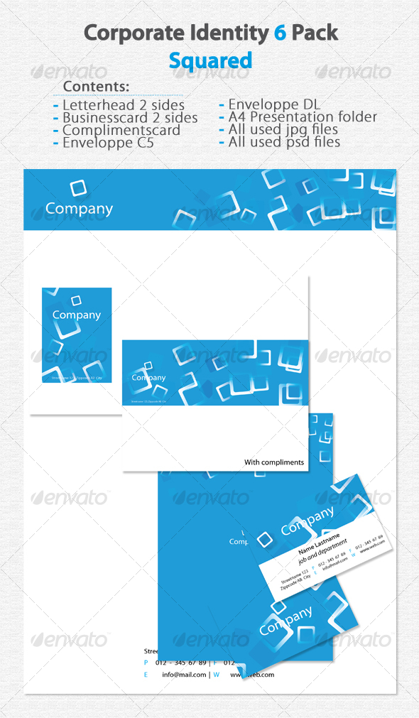 Corporate Identity 6 Pack Squared