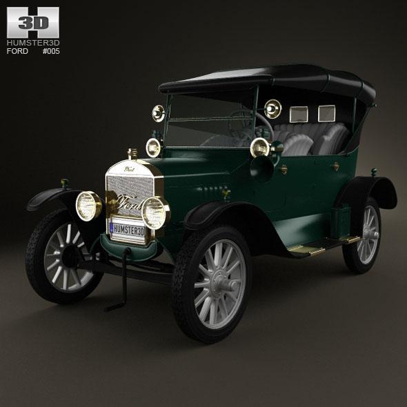 3DOcean Ford Model T 4door Tourer 1924 239029