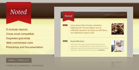 Noted Email Newsletter Template - Screenshot 01 - Noted Preview