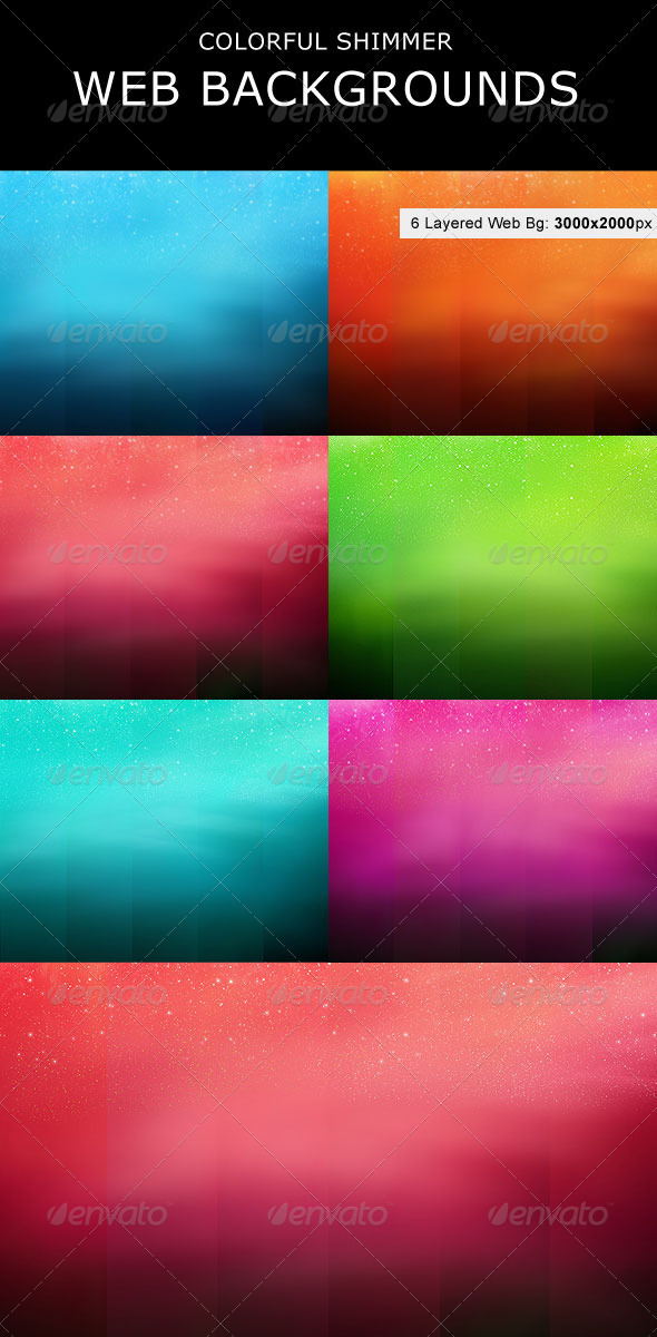 Colorful Shimmer Web Backgrounds - Backgrounds Graphics