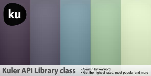 CodeCanyon Kuler API Library class 239128