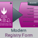 Modern Registry Form - GraphicRiver Item for Sale