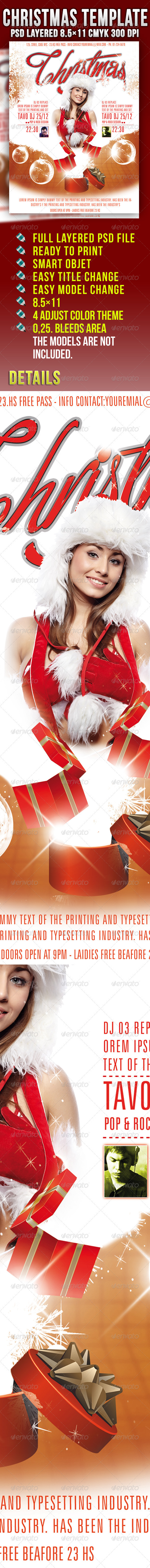 GraphicRiver Christmas Template Party 908066