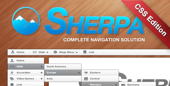CodeCanyon Sherpa Complete Navigation System CSS Edition 235809