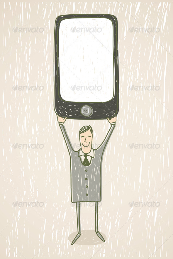 Businessman With Mobile Phone - People Characters
