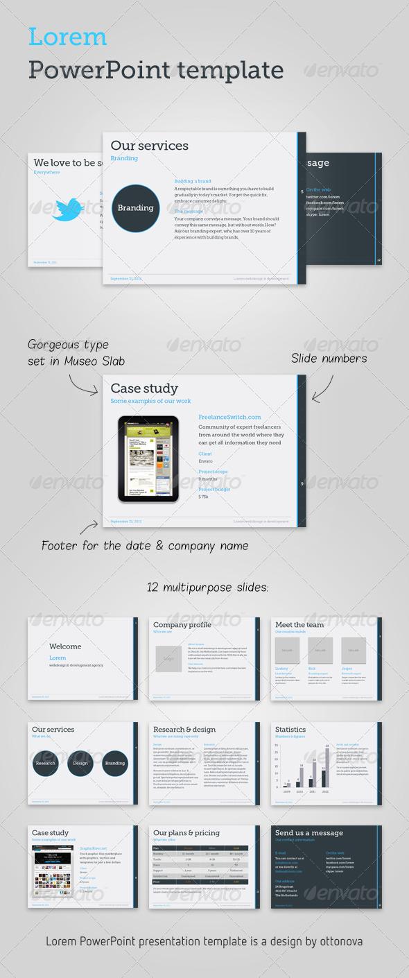 GraphicRiver Lorem PowerPoint template 239255