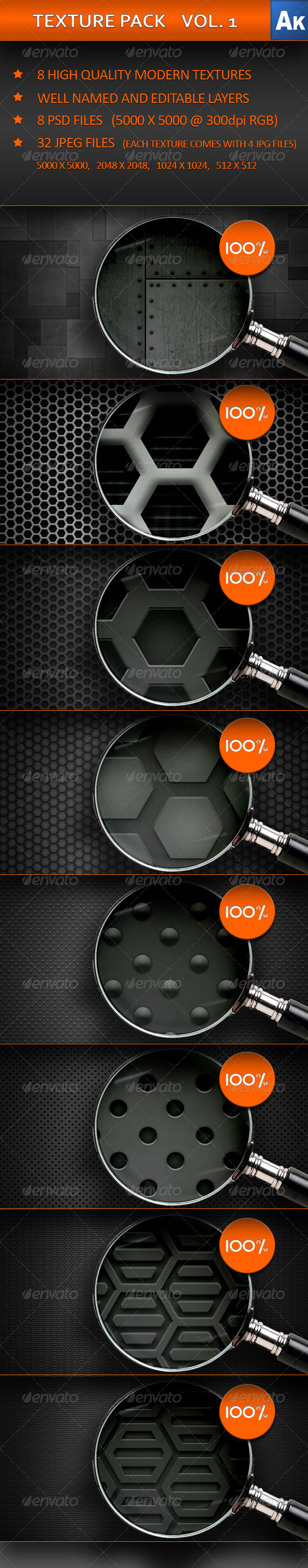GraphicRiver TEXTURE PACK VOL 1 239390