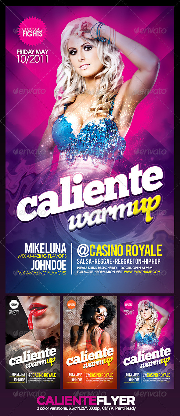 Caliente Flyer - Clubs & Parties Events