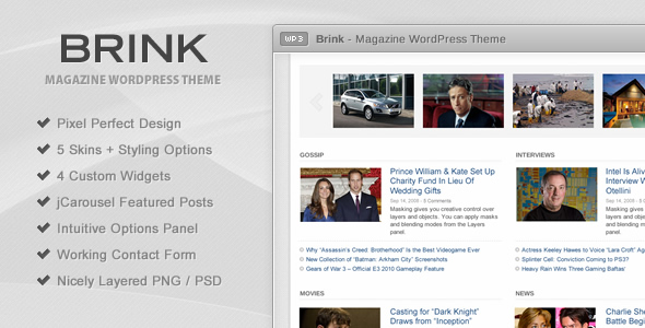 Brink - Magazine WordPress Theme - Template Preview