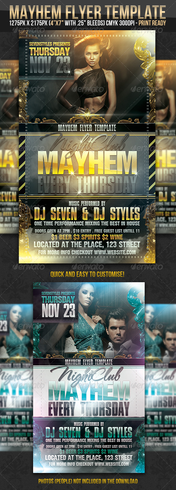 Mayhem Flyer Template - Clubs & Parties Events