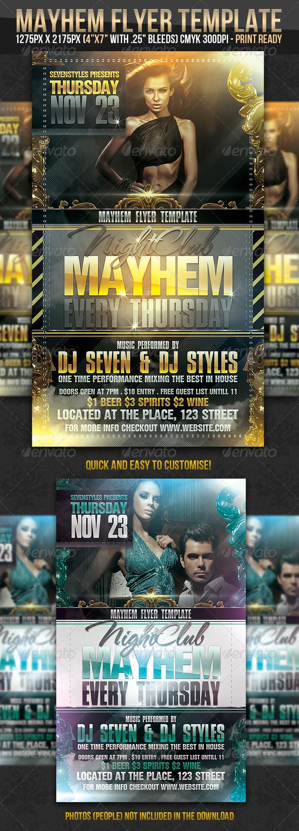 GraphicRiver Mayhem Flyer Template 239566
