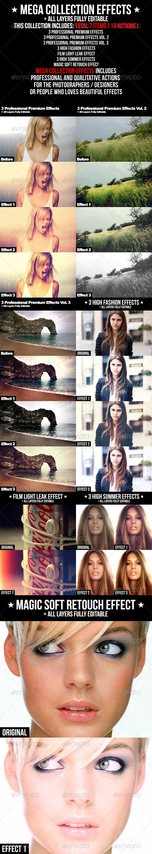 Graphic River Mega Collection Effects Add-ons -  Photoshop  Actions  Photo Effects 2112444