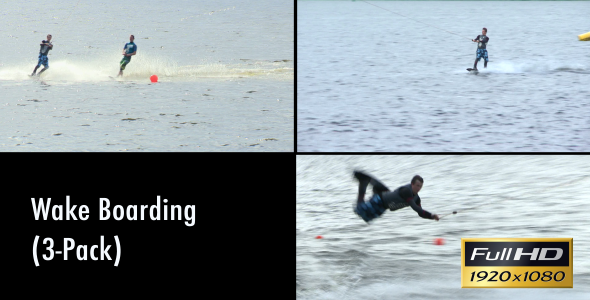 VideoHive Wake Boarding 3-Pack 2014013