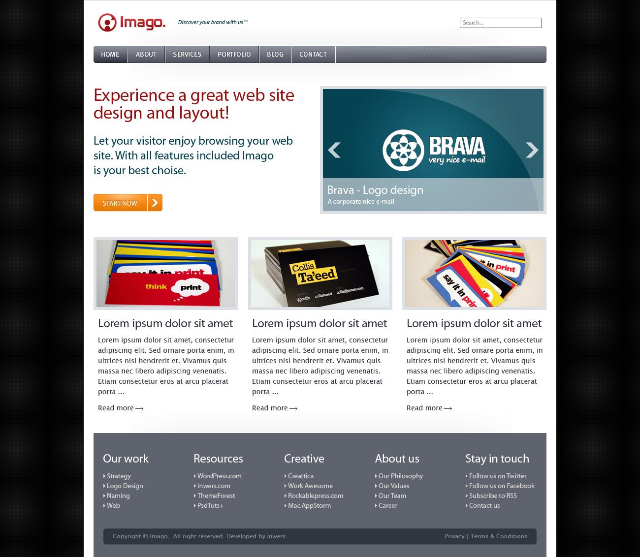 Imago - Business and Portfolio Template - 1_imago_home_vers_2