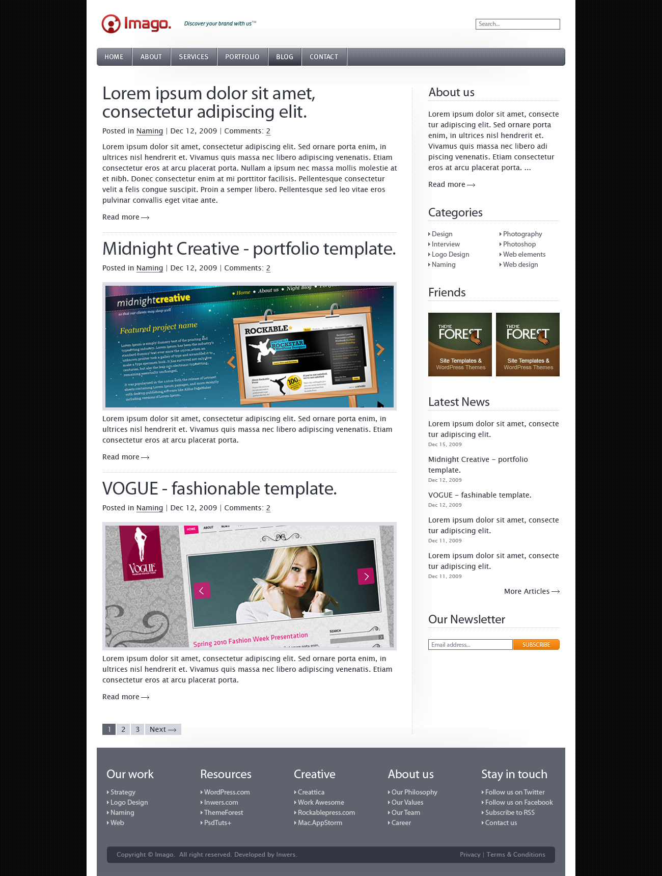 Imago - Business and Portfolio Template - 5_imago_blog