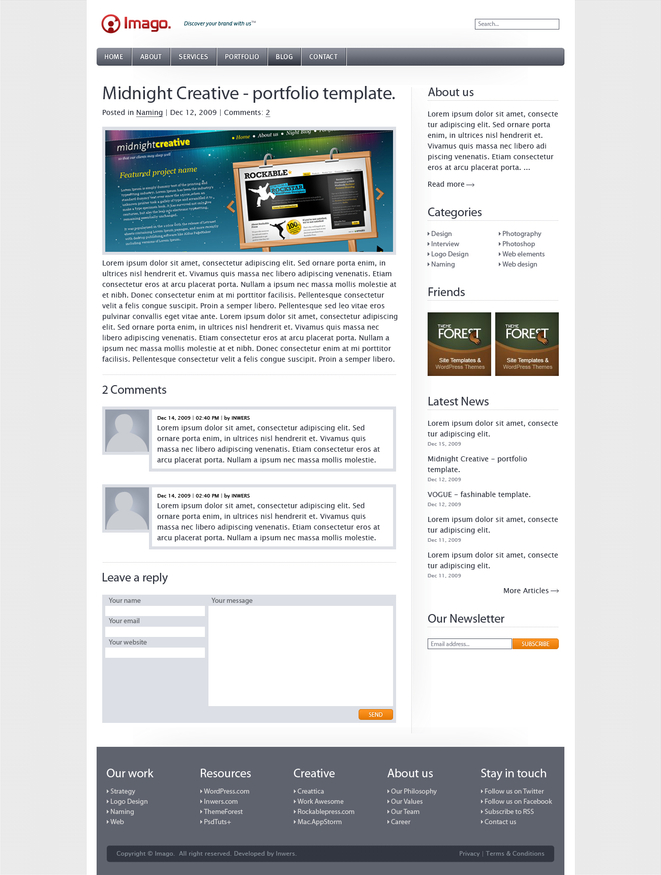 Imago - Business and Portfolio Template - 5_imago_blog_entry