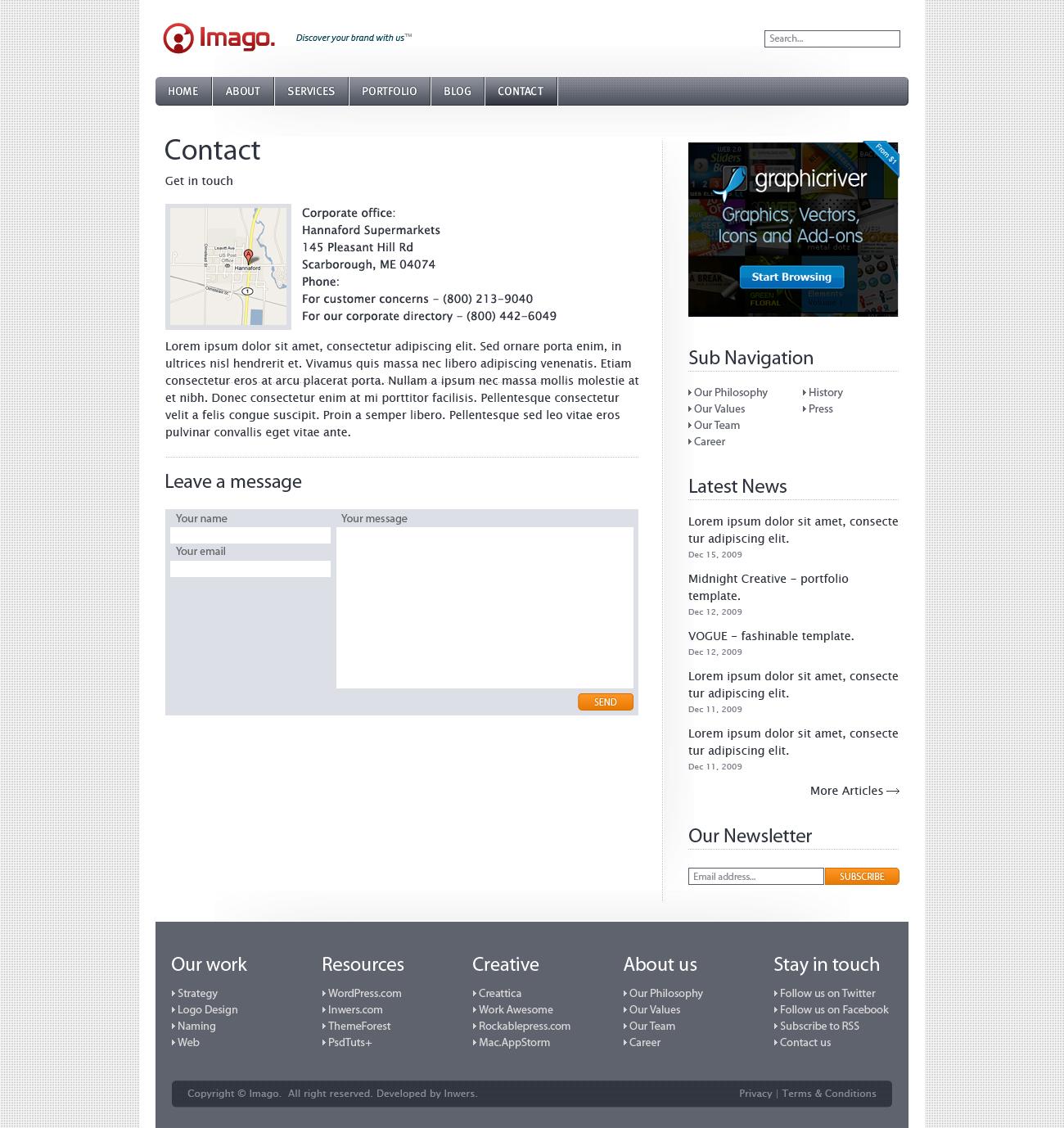 Imago - Business and Portfolio Template - 6_imago_contact