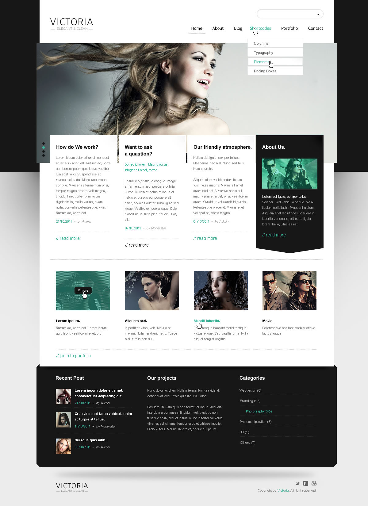 WordPress Template Victoria - Screenshot 2